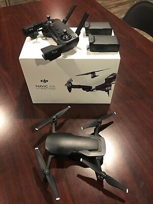 Dji Mavic Air Fly More Combo Camera Drone   Onyx Black Used  Excellent Condition