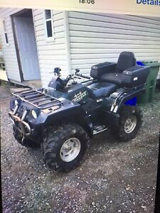 4 roues 2000 Yamaha Grizzly avec pelle