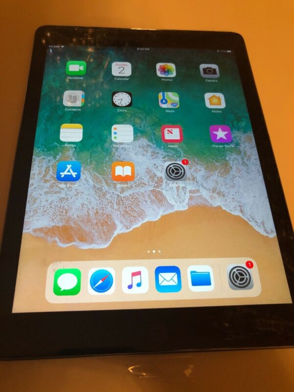 Apple iPad (Latest Model) with Wi-Fi + Cellular 128GB (Unlocked) Space Gray MR7C2LL/A
