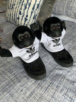 Adidas Jeremy Scott UK11 Limited Edition Gorilla High Tops Monkey Trainers