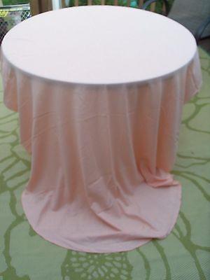 """(M) Peach Linen Blend Tablecloth, 120 x 56"""" Oblong, Banquet Size"""