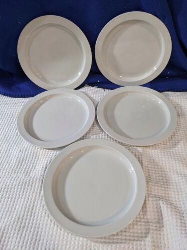 DANSK BISTRO~Bisserup~White Salad Plates~Set of 5~NICE!
