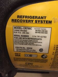Cps refrigerant recovery