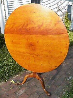 Antique American Cherry wood Tilt Top Tea Table Circa 1785