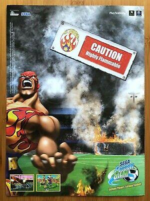 Sega Soccer Slam Nintendo Gamecube 2002 Vintage Print Ad/Poster Official Art UK