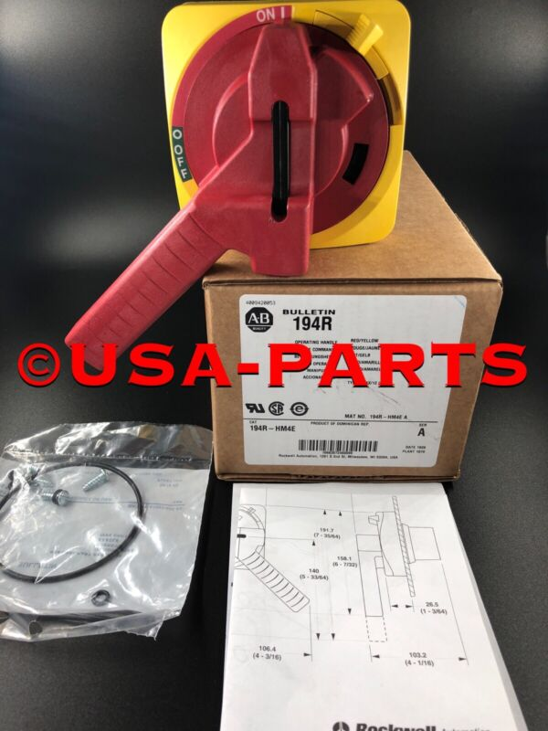 Allen Bradley 194R-HM4E Handle w/ Defeater ** New In Box ** Ships Same Day