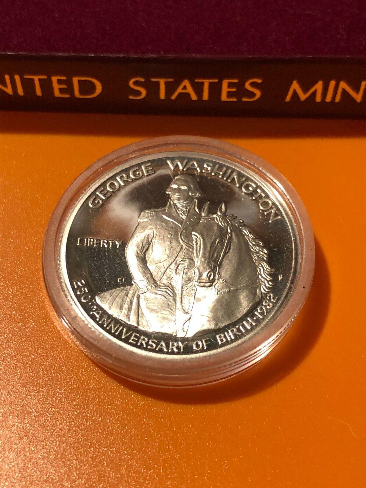 Commemorative 1/2 Dollar George Washing 250 Year Birth Gem Mint Proof - $15.00
