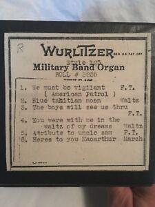 Wurlitzer 125 Military Band Organ Roll 3235