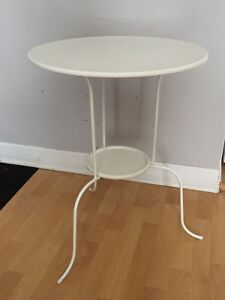Table d'appoint, blanc (50x68 cm)