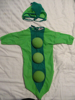 Charades Pea in The POD Halloween Costume Bunting w/Hat Green SZ 0-6M