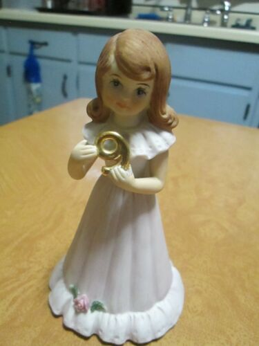 Enesco Growing Up Birthday Girl Figurine (Age 9)