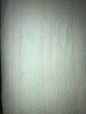Aqua Teal  Blue Bedspread Coverlet  Vintage Chenille Fringe  Fabric 100x80