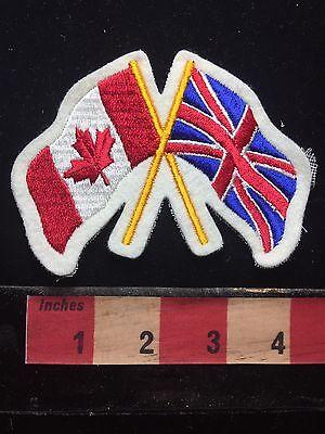 England ~ Canada Flag Theme Friendship Patch United Kingdom UK 71B5