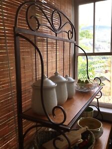 Iron & wood hutch