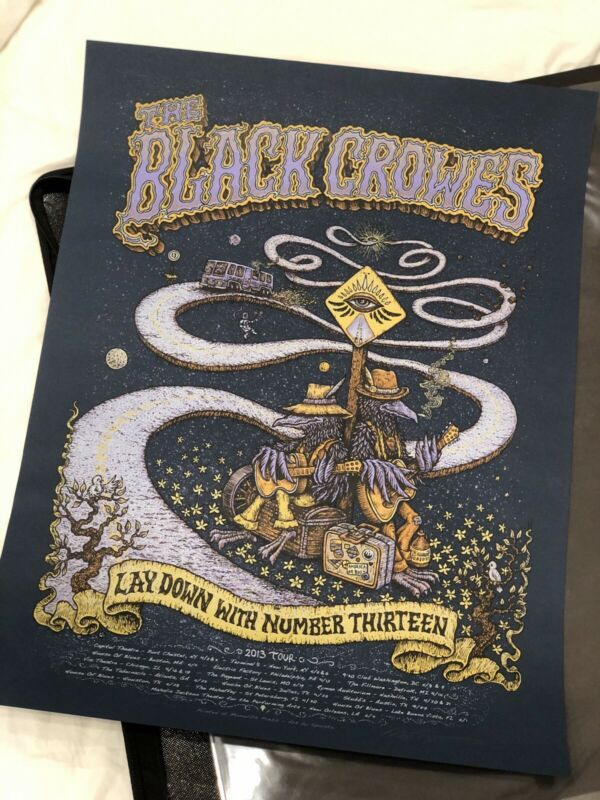 The Black Crowes 2013 Tour Poster By Marq Spusta