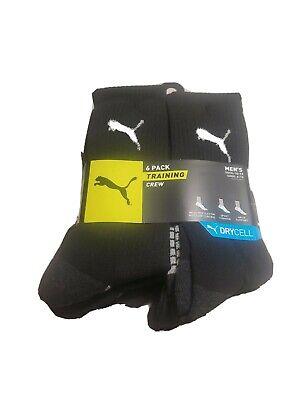 Puma sock TRAINING  DRYCELL 6-Pair Crew  Mens 10-13