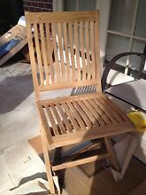 Teak  Fold-up Chair  ** Brand New ** Artarmon Willoughby Area Preview