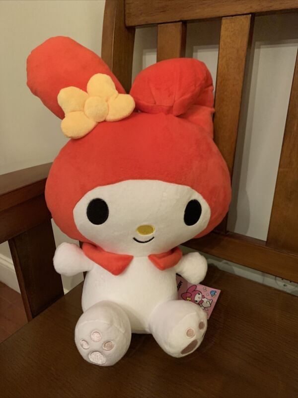 "Sanrio My Melody Red Bunny Plush 13"" Round 1"