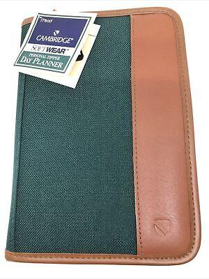 Mead Cambridge Softwear Personal Zipper Day Planner 8 78 X 6 14 Greentan