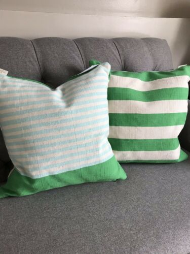ONE  NWT Kate Spade Double Sided Striped Throw Pillow.