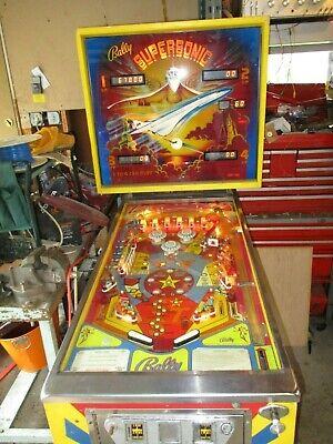 Bally 1979 Supersonic Pinball Machine. Supersonic