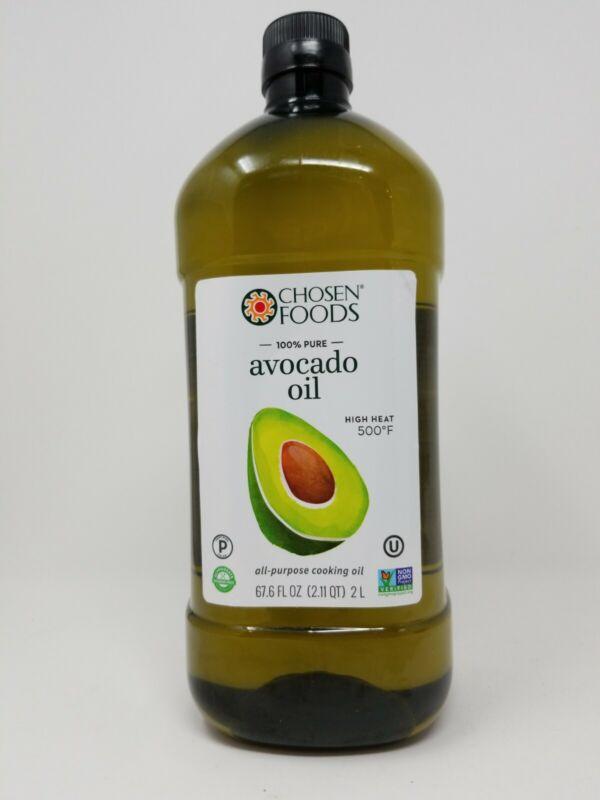 Chosen Foods 100 % Pure Avocado Oil 2 Liters / 67.6 Fl  Oz.