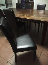 Hard wooden table and chairs Leppington Camden Area Preview