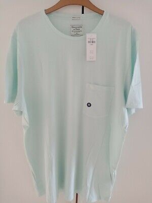 ABERCROMBIE AND FITCH MEN'S ICON POCKET TEE COLOUR MINT GREEN SIZE XL