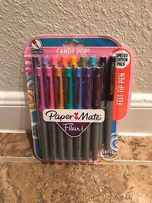 Paper Mate Flair Felt Tip Pens Ultra Fine 0.4mm Assorted 16 Pack Candy Pop