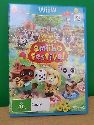 Animal Crossing: Amiibo Festival (Nintendo Wii U, 2015) *Game Only* FREEPOST