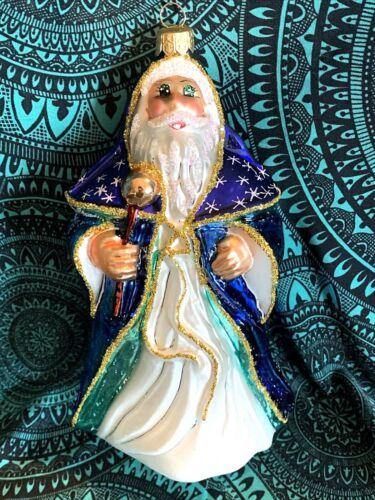"RADKO 1996 Christmas Magic Santa Member Exclusive Sparkle Eyes 6.5"" NIB"
