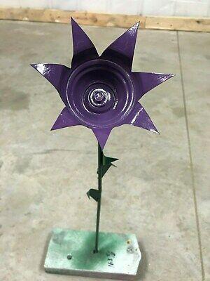 All metal off plum purple flower garden stake yard art great gift idea!](Flower Gift Ideas)