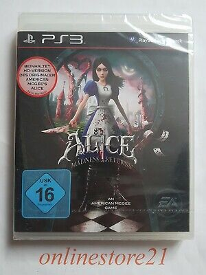 Alice Madness Returns PlayStation 3 NEU Factory Sealed Deutsche Version Rar
