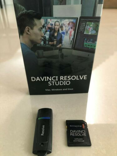 Blackmagic Davinci resolve studio 16.2.3Dongle with Dongle SD card with Software