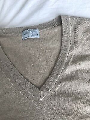 Malo Mens Classic V-neck Pullover 100%  Pure Virgin Wool 48IT, Made In Italy