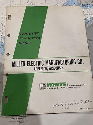 White Diesel Engine Parts List. Miller Welder