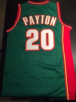 Nwt Gary Payton  20 Seattle Supersonics Green Throwback Basketball Jersey Mens