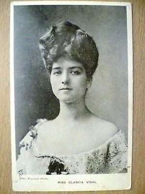 1906 Used Postcard- Theatre Actress MISS CLARITA VIDAL