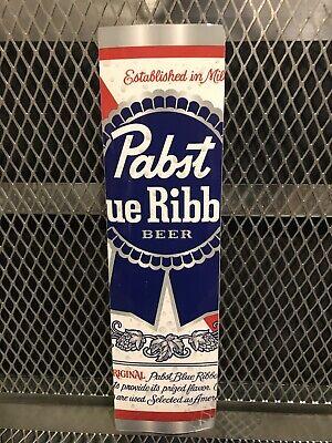 """PBR ART Pabst Blue Ribbon Beer ~ CAN ART  3"""" x 11""""  Vertical Bumper Sticker Sign"""