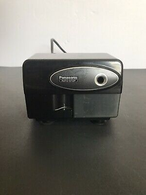 Panasonic Kp-310 Electronic Pencil Sharpener Black Auto Stop Tested Works Great