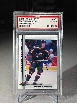 2000 Be A Player Memorabilia Marian Gaborik #401 - PSA 9 - Minnesota Wild Minnesota Wild Memorabilia