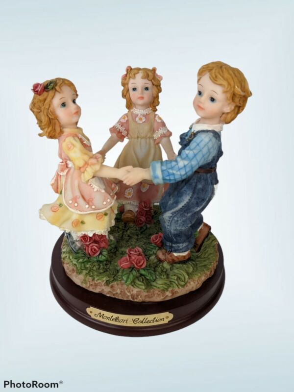 Amazing Montefiori Collection three Children Dancing Collectable