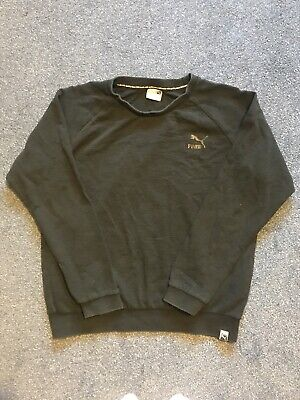 ⭐️Black Puma Crew Neck Jumper Sweatshirt UK Size Small VGC Priced To Sell⭐️