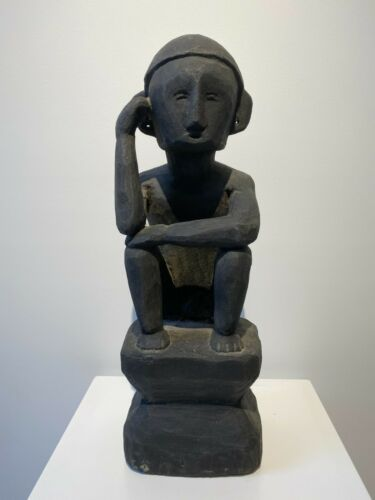 Figure of a Male Rice Deity Bulul  from Northern Luzon Island Philippines
