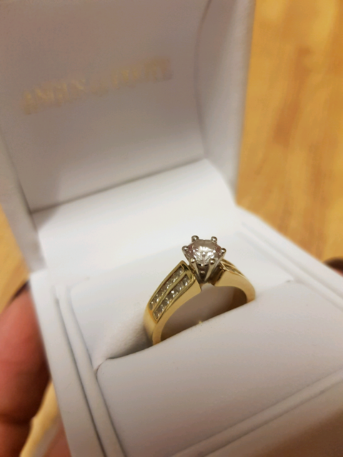 18ct Yellow Gold 1 Carat Diamond Engagement Ring Angus Coote