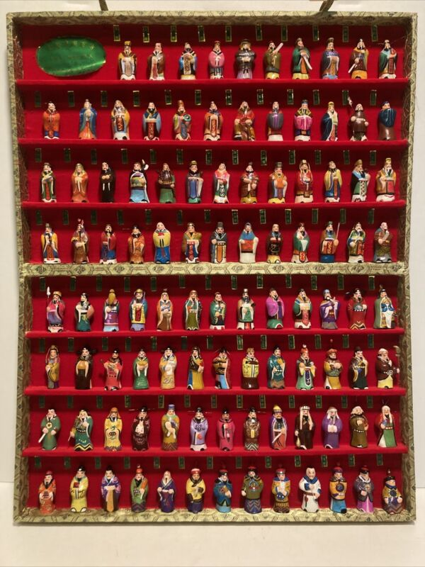 100 PC Ceramic Figurine Set Chinese Emperors 5000 - Long History Hand Painted