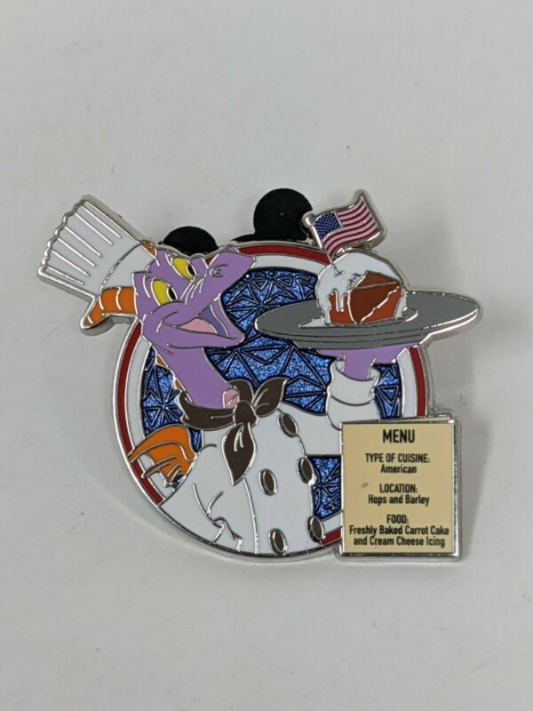Disney 2021 Food And Wine Festival Figment USA American Adventure Mystery LR Pin