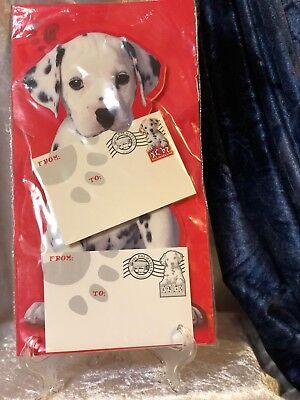 Vintage Disney 101 Dalmatians Live Action 2008 Gift Pin & Card Set - NEW