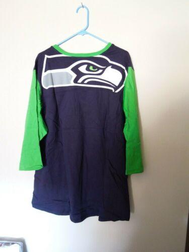 NWT - Majestic - Seattle Seahawks - Plus 3X - T Shirt - Back Logo
