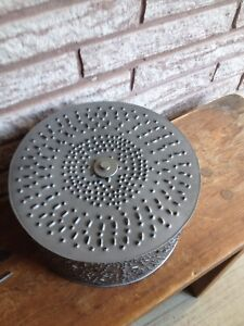 Punch tin ceiling light/Perry sound